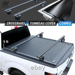 2019-2021 Ranger Tonneau Cover 5ft Bed Hard Retractable Waterproof + Crossbars