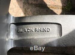 20 Ford Ranger Wildtrak Black Rhino Heavy Duty Alloy Wheels Black Matt