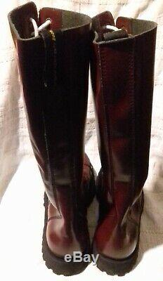 20 hole cherry red Ranger boots size 12 EU 46 skinhead skin skins Oi Heavy Duty