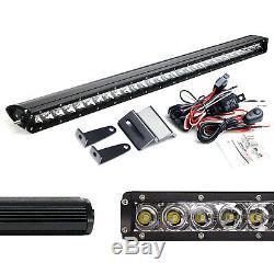 Above Rear Window Mount 30-Inch LED Light Bar Kit For 07-up Jeep Wrangler JK JL