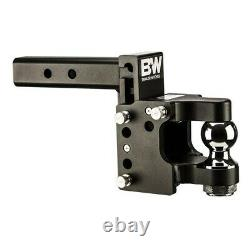 B&W 16,000LBS Black Tow & Stow Pintle Trailer Hitch 8.5 Drop 2.5 Receiver