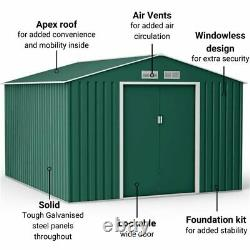BillyOh Ranger Metal Garden Shed Outdoor Storage Heavy Duty With Foundation Kit