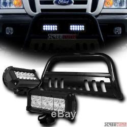 Black Bull Bar Push Brush Bumper Guard+36W CREE LED Lights For 98-11 Ford Ranger