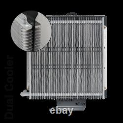 Dual Heavy Duty Transmission Oil Cooler Kit suit Ford Ranger PX 6 Speed