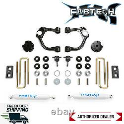 Fabtech Heavy Duty 3.5 Ball Joint UCA System With Rear Shock 19-20 Ford Ranger