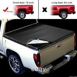 Fit 83-11 Ford Ranger Pickup 6 Ft 72 Short Bed Snap-On Soft Vinyl Tonneau Cover