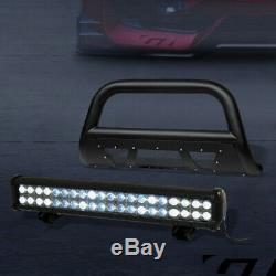 For 1998-2011 Ford Ranger Textured Blk Studded Mesh Bull Bar+120W CREE LED Light
