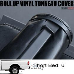 For 83-11 Ford Ranger 6 Ft 72 Short Truck Bed Lock & Roll Up Soft Tonneau Cover