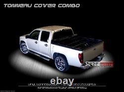 For 83-11 Ranger/94-10 B2300 B2500 6' Bed Hidden Snap Tonneau Cover+LED Lights