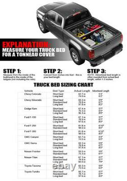 For 83-11 Ranger/94-10 B-Series 6 Ft 72 Bed Lock & Roll Up Soft Tonneau Cover