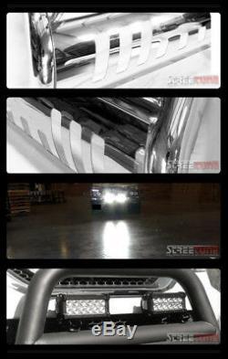 For 98-11 Ford Ranger Chrome Bull Bar Grill Grille Guard+36W CREE LED Fog Lights