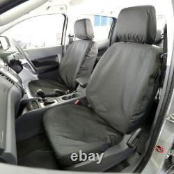 Ford Ranger T6 Waterproof Heavy Duty Front & Rear Seat Covers Black 155 156 Hd