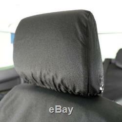 Ford Ranger T6 Waterproof Heavy Duty Front Seat Covers Black 155 Hd