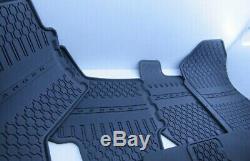 GENUINE HEAVY DUTY rubber Floor Mats RANGER FORD 4 DOOR PX Set Of 5 CREW CAB NEW