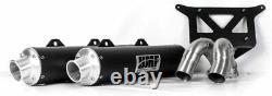 HMF Racing Performance Series Dual Slip-On Exhaust 2016-2020 Ranger RZR Turbo XP