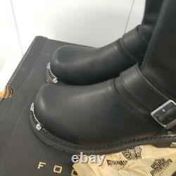 Harley Davidson Mens 10.5 10 Black Leather Motorcycle Boots Heavy Duty Toe