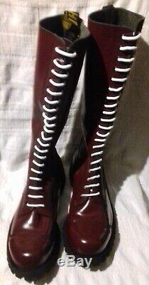 Heavy duty 20 hole cherry red Ranger boots size 12 EU 46 skinhead skin skins
