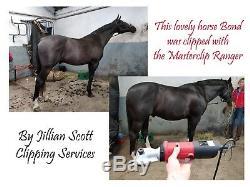 Horse Clippers Heavy Duty Masterclip Ranger Clipper with 2 Year UK Warranty
