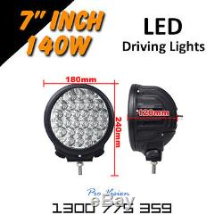 LED Driving Lights 2x 140w 7 Heavy Duty CREE 12/24v AAA+ 2015 Premium Quality