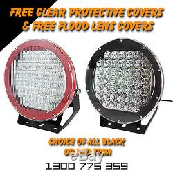 LED Spot Lights 2x 225w Heavy Duty CREE 12/24v AAA+ MOST POWERFUL 9 TODAY