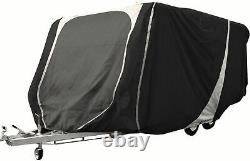 Leisurewize Caravan Cover 17 to 19ft Heavy Duty Breathable Charcoal Grey 3 ply