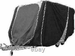 Leisurewize Caravan Cover 21 to 23ft Heavy Duty Breathable Charcoal/Grey 3 ply