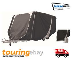 Leisurewize Caravan Cover (21ft x 23ft) Heavy Duty All Weather Breathable Grey