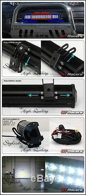 Matte Black Bull Bar Grille Guard+Skid+120W CREE LED Light For 98-11 Ford Ranger