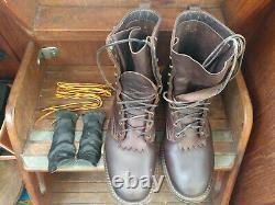 Nick's Boots Ranger 11.5E 8 Walnut Heavy Duty Nicks Handmade Boots