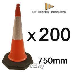 PACK OF 200 RANGER U. K Heavy Duty Traffic Cones (2 PIECE 750mm)