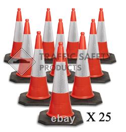 PACK OF 25 RANGER U. K Heavy Duty Traffic Cones (2 PIECE 750mm)