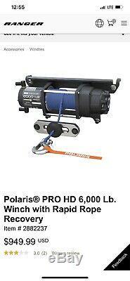 Polaris 2882237 Pro Heavy Duty 6000 LB Winch 2013- 2019 Ranger 1000 900 Crew XP