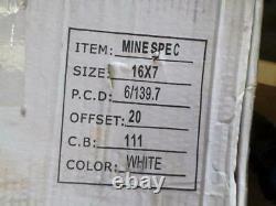 STEEL RIMS suit Ford Ranger, Isuzu Dmax ONE PAIR 16x7 King Wheels Mine Spec