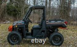 SuperATV Heavy Duty Black Nerf Bar Rock Sliders for Polaris Ranger 1000/ XP 1000