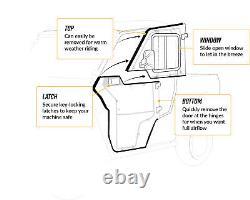 SuperATV Heavy Duty Convertible Cab Enclosure Doors for Polaris Ranger XP 1000