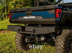 SuperATV Heavy Duty Rear Winch Bumper for Polaris Ranger XP 1000 / Crew