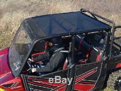 SuperATV Heavy Duty Tinted Roof for Polaris Ranger 1000 Diesel Crew (2015+)