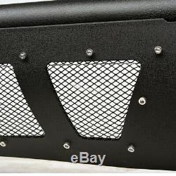 Topline For 1998-2011 Ranger Textured Black Studded Mesh Bull Guard+120W LED Bar