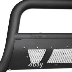 Topline For 98-11 Ford Ranger Matte Black Studded Mesh Bull Guard with120W LED Bar
