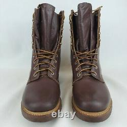 Vintage 1950's Ranger Brown Leather Heavy Duty Shoes Work Boots Men's 7.5 EE