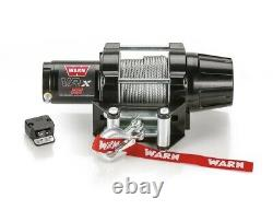 Warn 101025 VRX 25 Powersports Winch With 2500 LB Capacity And 50 FT Steel Rope