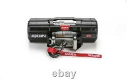 Warn 101155 Axon 55 Power Sport Winch With 5,500 LB Capacity & 50 FT Steel Rope