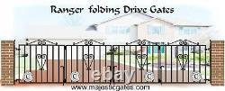 Wrought Iron Folding Drive Gates Bi Folding Ranger